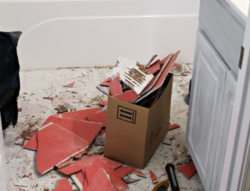 How to Remove Tile Floor | Guest Bathroom Update