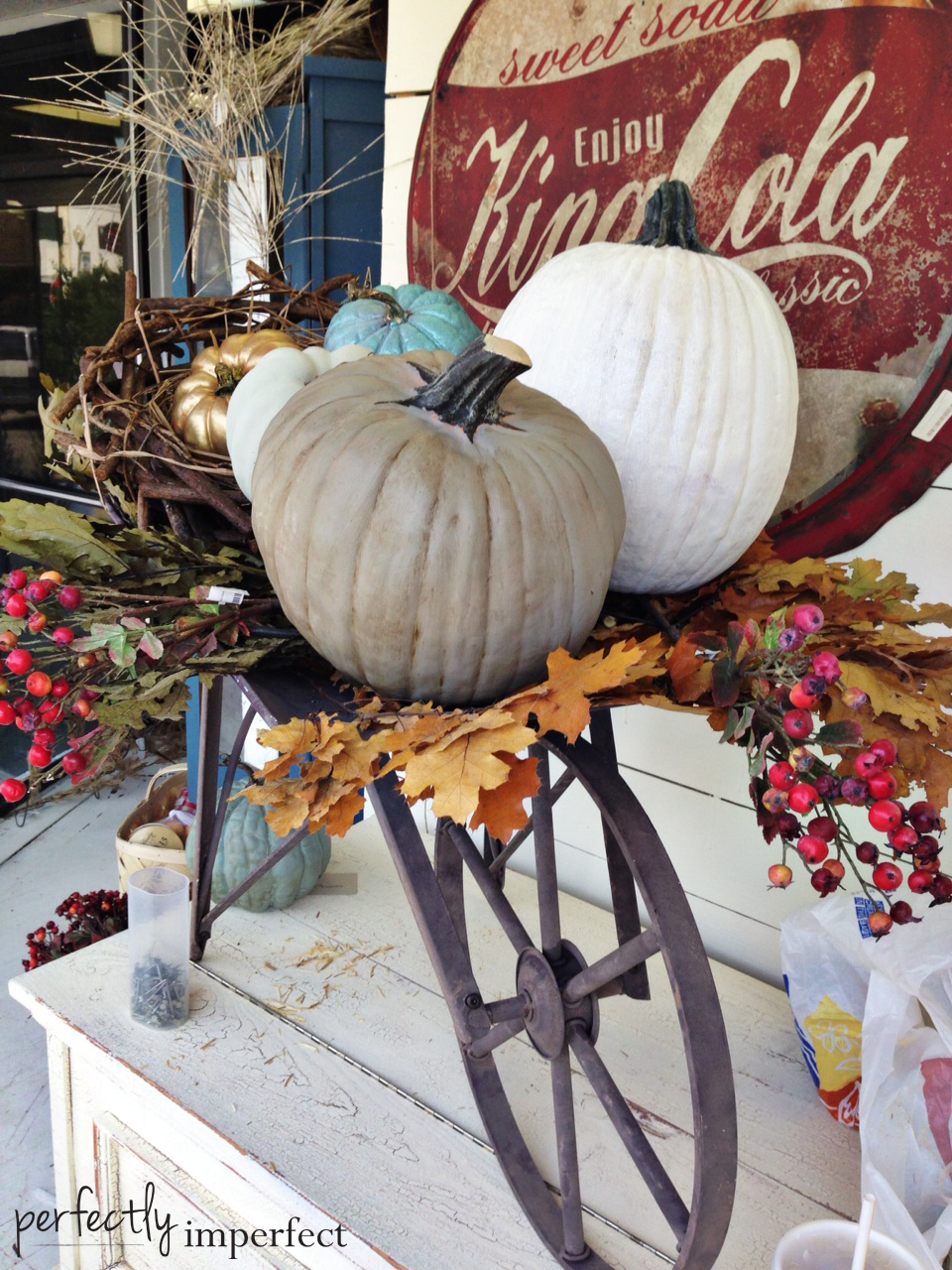 Perfectly Imperfect-Decorating The Fall Window