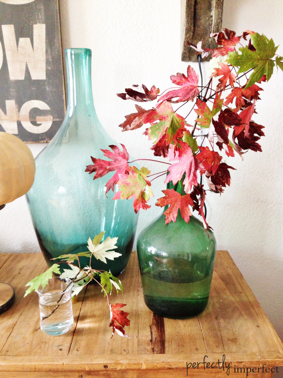 Perfectly Imperfect Fall Entry Decor