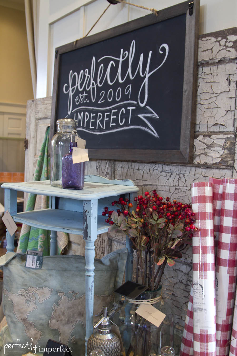 Perfectly Imperfect Chalkboard Kitchen Papers Red Checks