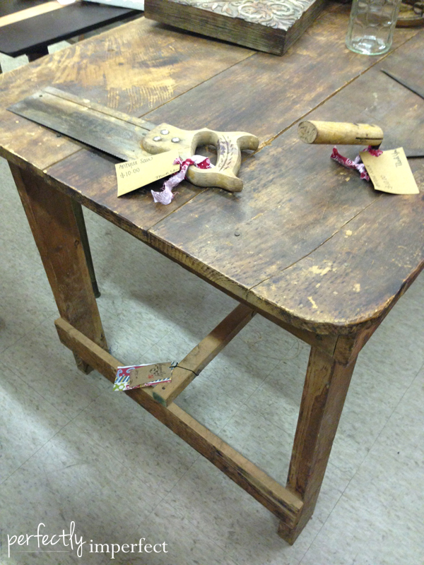 Perfectly Imperfect-Primitive Farmhouse Table