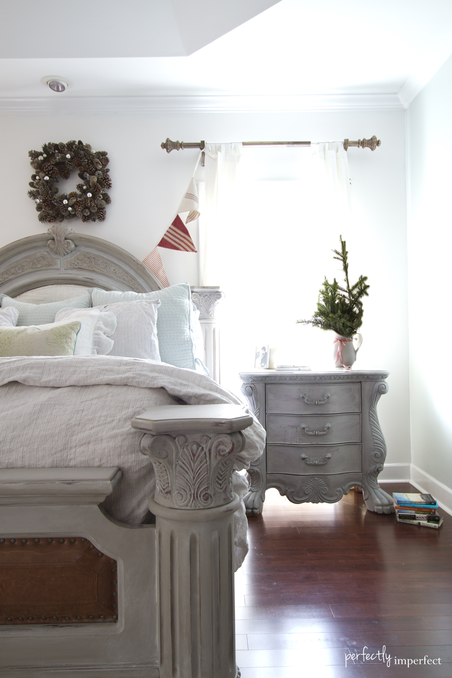 Perfectly Imperfect Master Bedroom Christmas