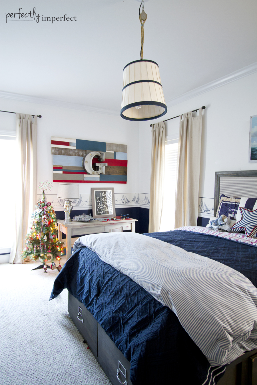 Perfectly Imperfect Boys Room Christmas