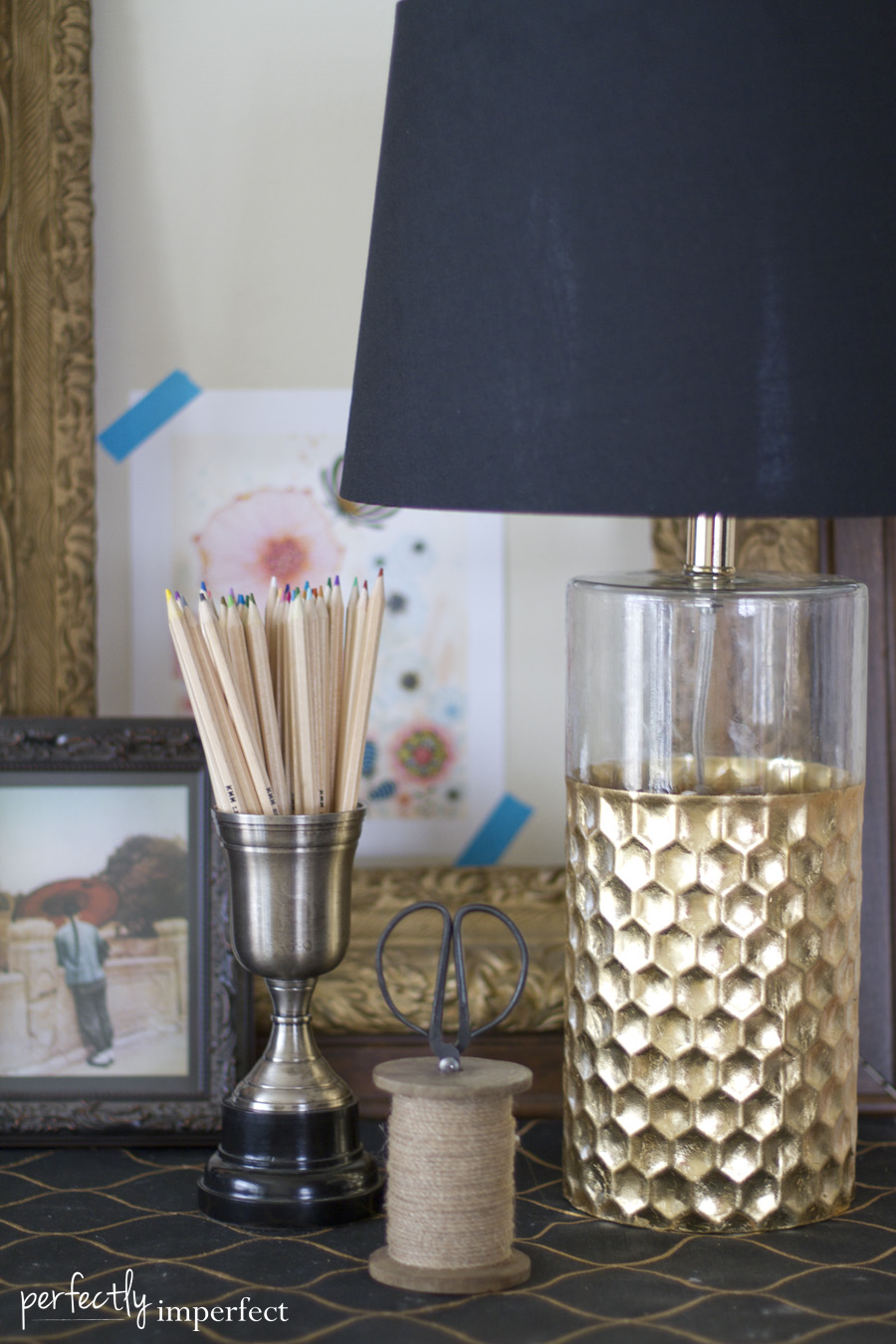 Perfectly Imperfect Gold Lamp