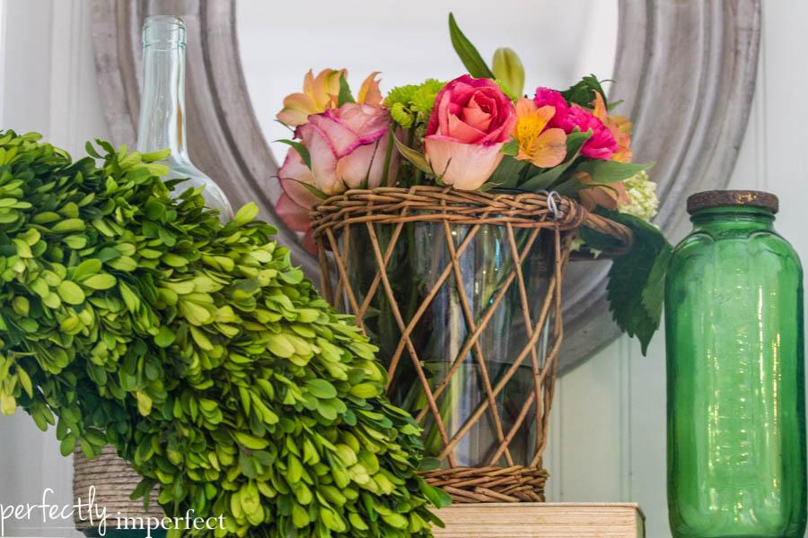 Boxwood Wreath Flowers-2