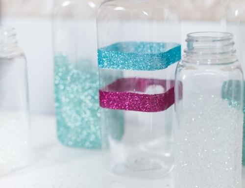 Simple Glitter Milk Bottles