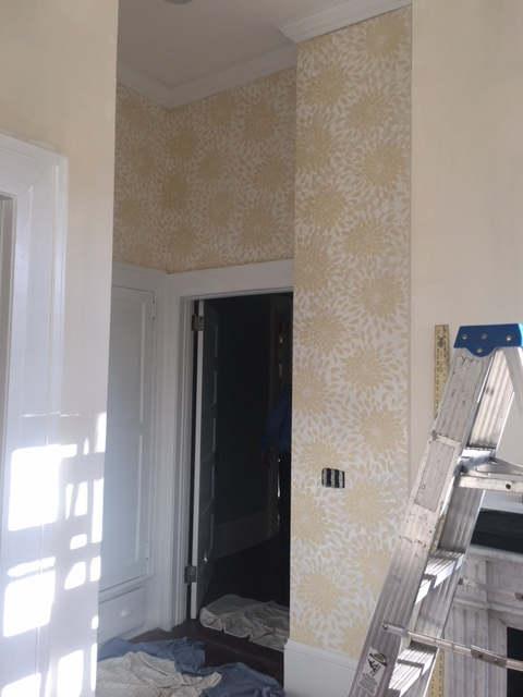 Stephanie's Playroom- Wallpaper Installed!