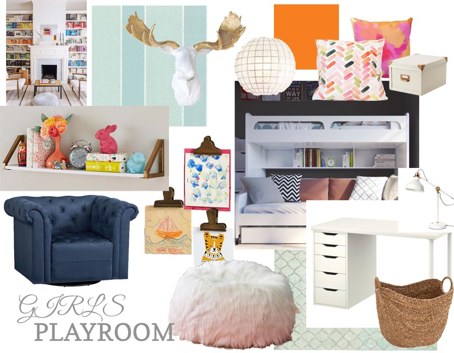 Stephanies Playroom Inspiration Design Board Perfectly