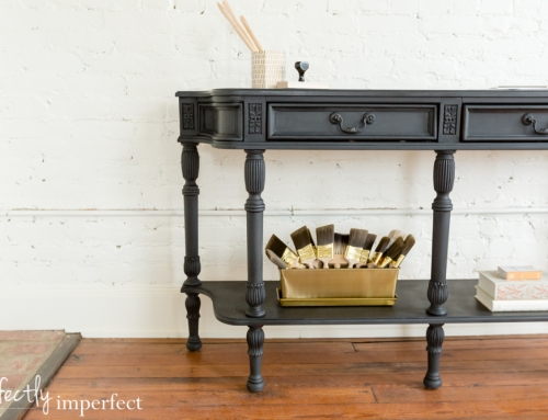 Graphite Console Table Makeover