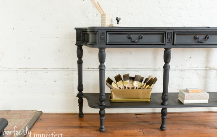 Perfectly Imperfect Black Wax Console-3