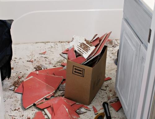 How to Remove Tile Floor | Guest Bathroom Update