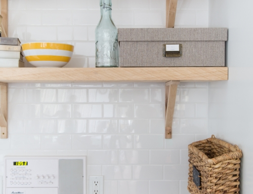 Reclaimed Wood Shelving & The Backsplash