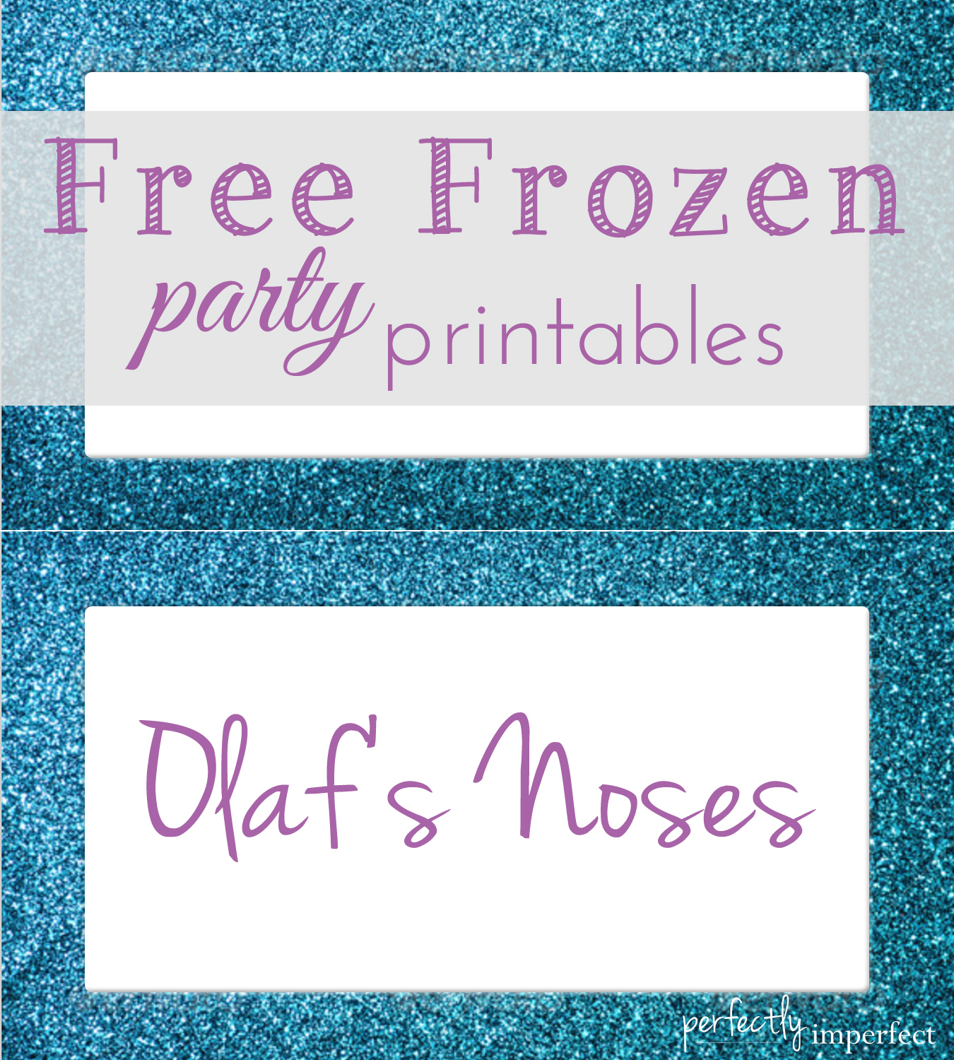 Free Frozen Party Menu Card Printables