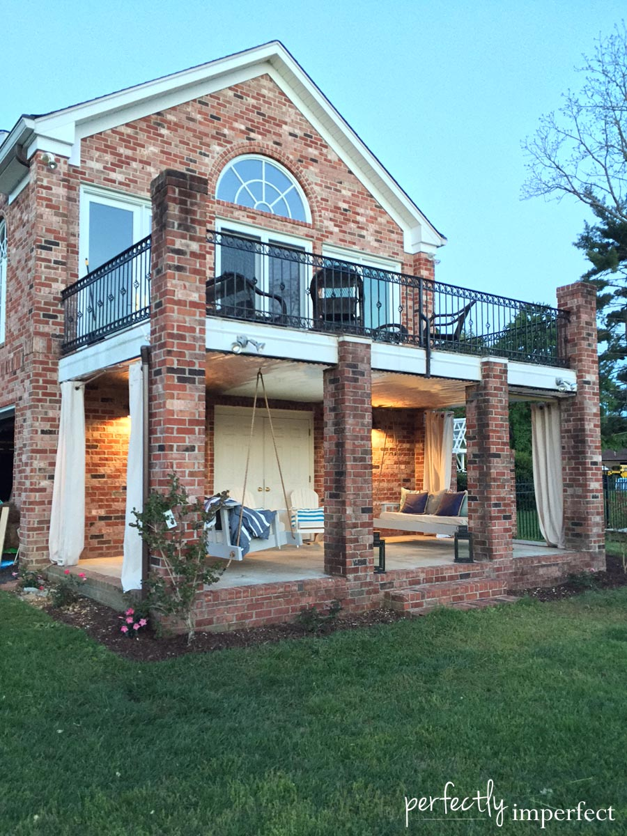 Perfectly Imperfect Southern Porch Redo