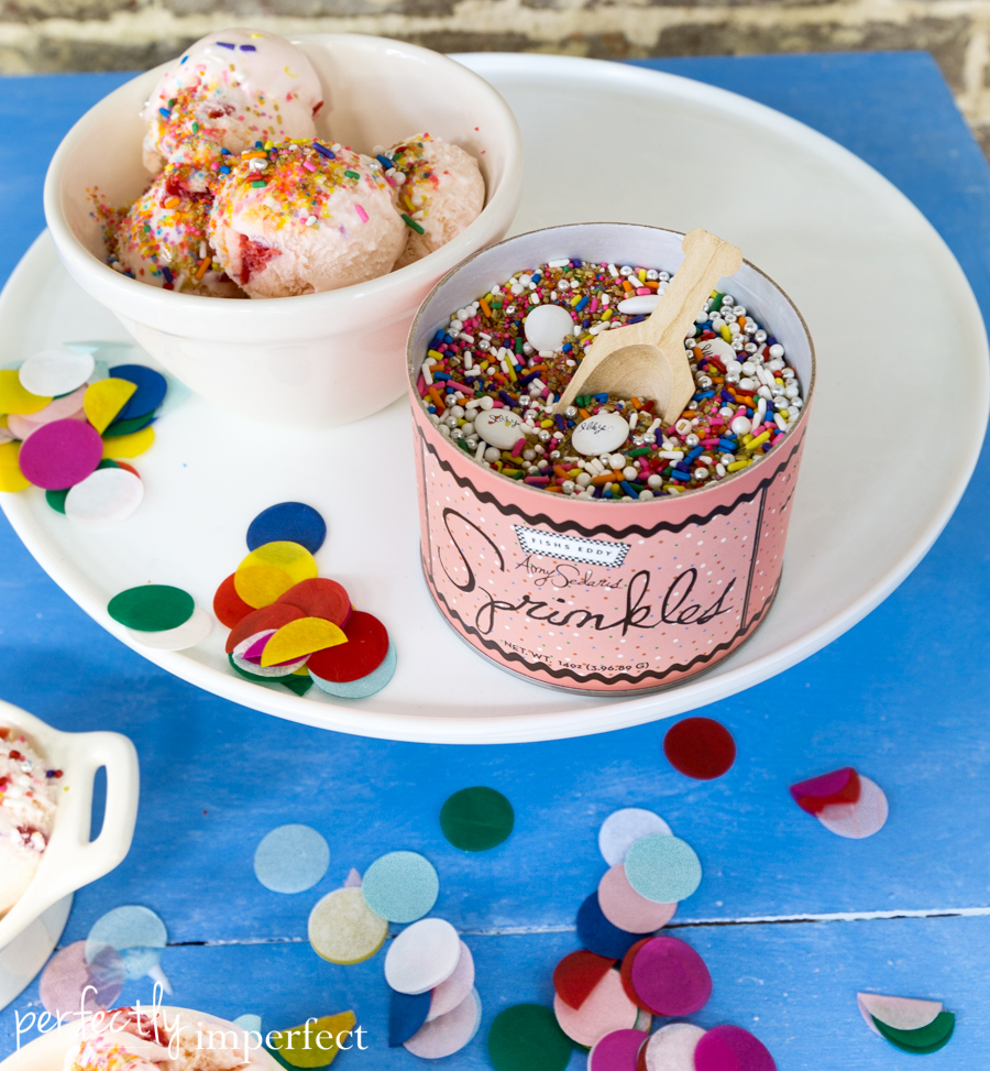 Creamware Dessert Pots, Fishs Eddy Sprinkles, & Photo Shoots