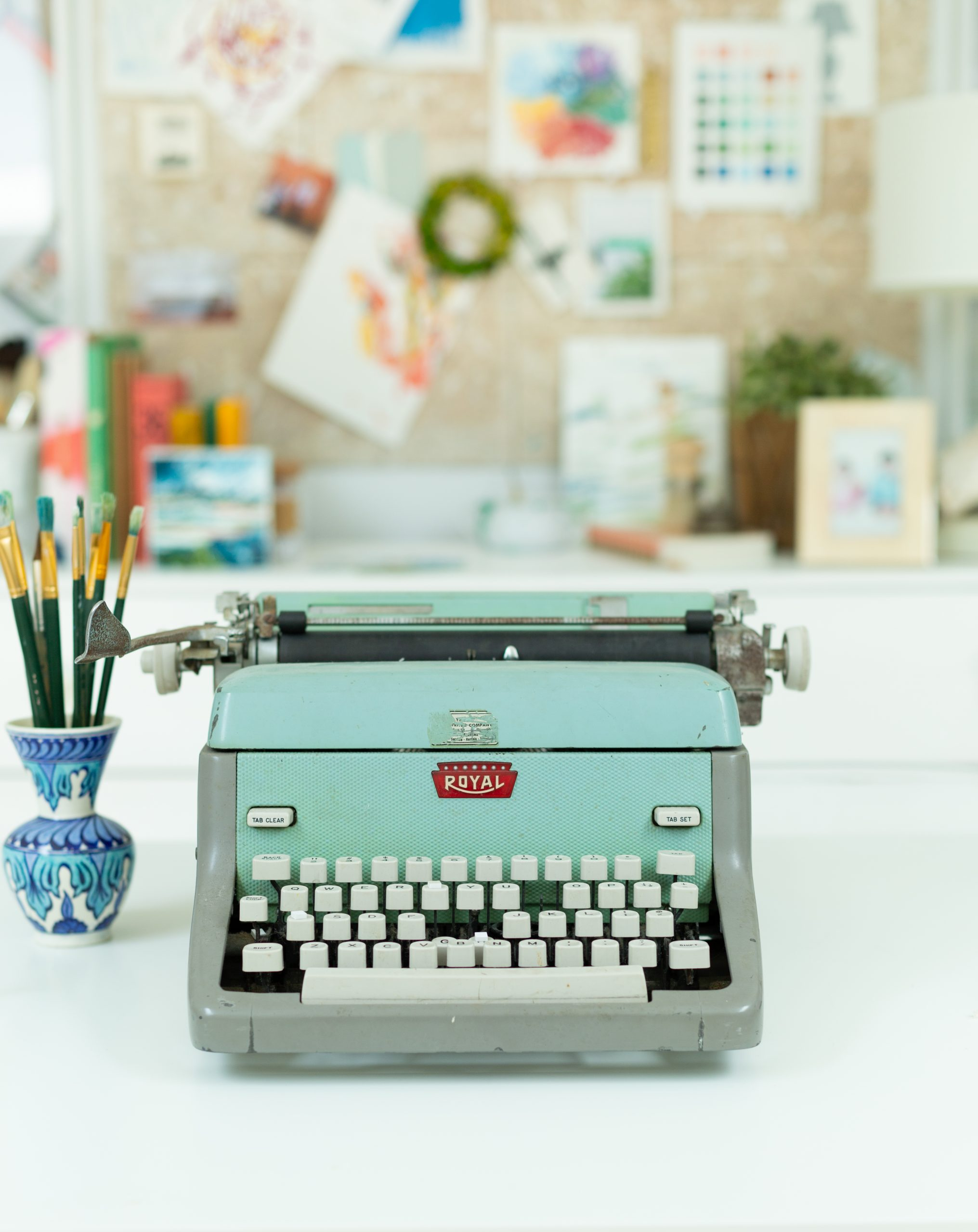 Vintage Typewriter | The Middle: Here, With You | A book of the stories of my middle, and the constant unfolding of us