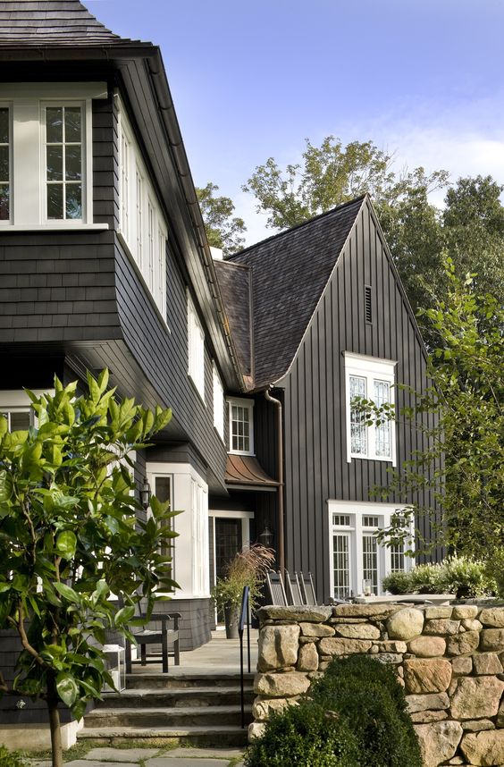 Exterior Paint Colors | Dark Exterior Paint Colors | Perfectly Imperfect | Semi Custom Home Build
