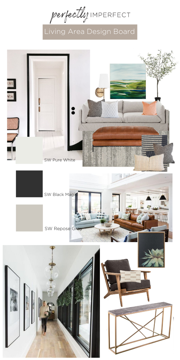 Living Room Design Board | Living Room Decorating Ideas | Mood Board | Shaunna West | Perfectly Imperfect