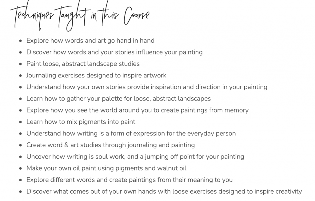 Words & Art   An Art Course for Journaling and Painting from Imagination   How to Oil Paint   Jeanne Oliver   Shaunna Parker